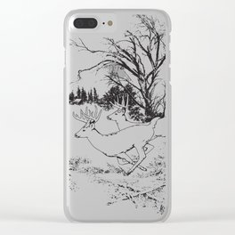 Whitetail Deer Clear iPhone Case