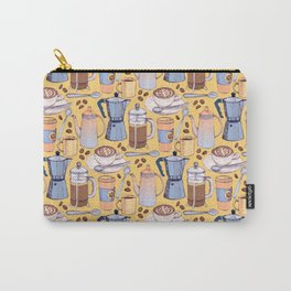 Coffee Love on Yellow Carry-All Pouch