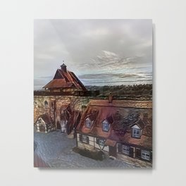 Burgthann Castle in the Rain Metal Print
