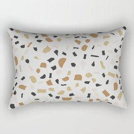 Beige Terrazzo Rectangular Pillow