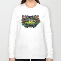 cheshire cat Long Sleeve T-shirts featuring CHESHIRE by AZZURRO ARTS