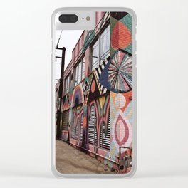 Alley of Psychedelic Building in Oklahoma City Clear iPhone Case
