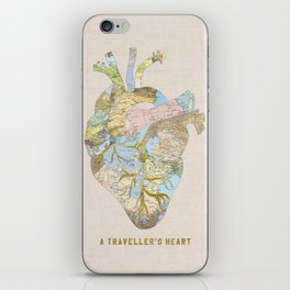 A Traveller's Heart (UK) iPhone Skin