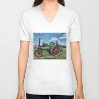 jem V-neck T-shirts featuring Jem General Purpose Engine by Avril Harris