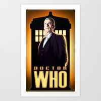 doctor Art Prints featuring Doctor ? by rnlaing