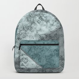 Combined abstract pattern .Green marble . Backpack