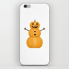 Pumpkin Snowman iPhone Skin