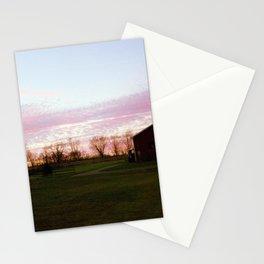 Pink Farm Sunset Stationery Cards