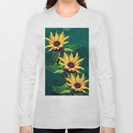 Watercolor sunflowers Long Sleeve T-shirt