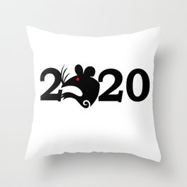 2020 Year Of The Rat Gift Design Throw Pillow