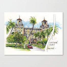 Hotel Nacional de Cuba, Havana Canvas Print