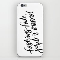 ysl iPhone & iPod Skins featuring Style is Eternal by Megan Carty