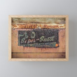 M & W Gear Company Super Snoot Rusted Name Plate Framed Mini Art Print