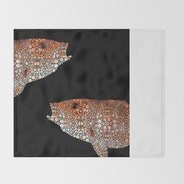 Red Grouper Fish - Florida Art By Sharon Cummings Throw Blanket