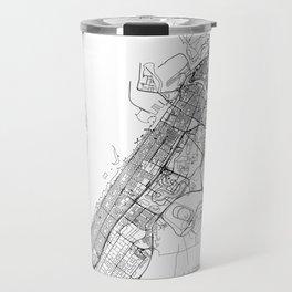 Dubai White Map Travel Mug