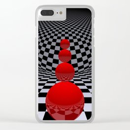 OpArt -53- Clear iPhone Case