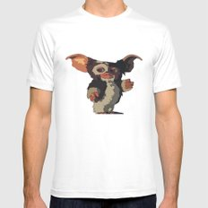 Gizmo, Gremlin color MEDIUM White Mens Fitted Tee
