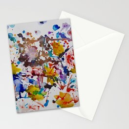 """""""After the Rain"""" Watercolor, Spatter, Splash Art by Noora Elkoussy Stationery Cards"""