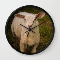 lamb Wall Clocks featuring Lamb by Guna Andersone & Mario Raats - G&M Studi