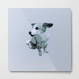 Linda dog Metal Print