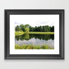 north side of pond Framed Art Print