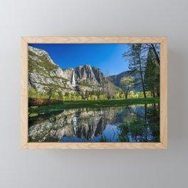 Yosemite Valley and Waterfall Framed Mini Art Print