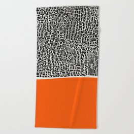 City Sunset Abstract Beach Towel