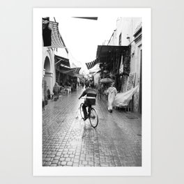 The vibe of an old city Art Print