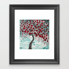 Red Cherry Tree Framed Art Print