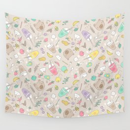 Bears and smoothie Wall Tapestry