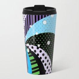 Stripes and Polka Dots Graphic Art Travel Mug