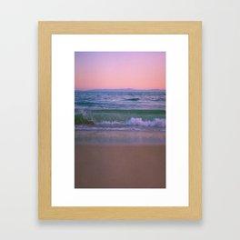Pink Sunset Ocean Framed Art Print