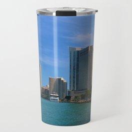Brickell and Biscayne Bay Travel Mug