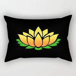 Yellow Lotus Rectangular Pillow