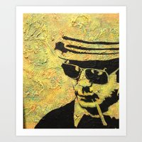 hunter s thompson Art Prints featuring hunter s thompson by Leemarie