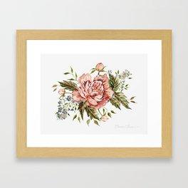 Pink Wild Rose Bouquet Framed Art Print