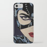 catwoman iPhone & iPod Cases featuring Catwoman by Cassidy Dawn
