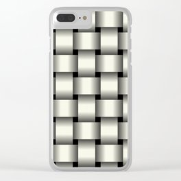 Large Ivory Weave Clear iPhone Case