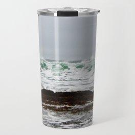 Green Wave Breaking Travel Mug