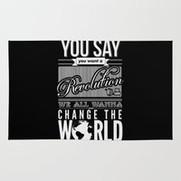 revolution Area & Throw Rugs featuring Revolution.  by Creation Factory
