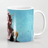 diver Mugs featuring Diver by Tony Vazquez