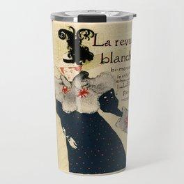 Belle Epoque vintage poster, La Revue Blanche Travel Mug