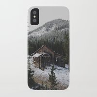 cabin iPhone & iPod Cases featuring Snowy Cabin by Kevin Russ