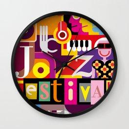 Jazz Festival Wall Clock