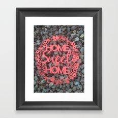 Paper-cut Home sweet home Framed Art Print