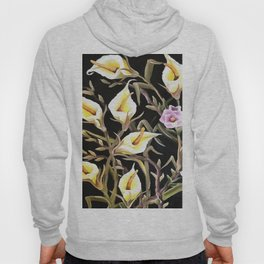 Arum Lily Artistic Floral Design Hoody