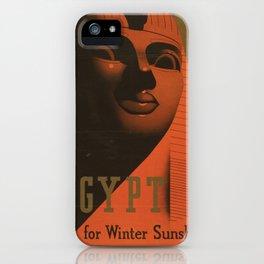 S. C. Allen & Company Ltd. - Poster, Egypt for Winter Sunshine 1937 iPhone Case