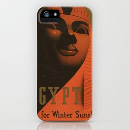 S. C. Allen & Company Ltd. - Poster, Egypt for Winter Sunshine 1937 iPhone Case