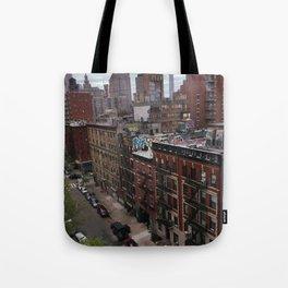 New York street views - Chinatown from Manhattan bridge Tote Bag