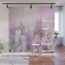 Lavendar Lilies Wall Mural